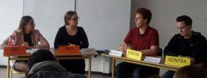 Regionalwettbewerb Jugend debattiert am 20.02.2018 in der Otto-Hahn-Schule