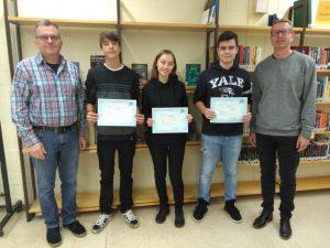 Verleihung von drei DELF-Zertifikaten