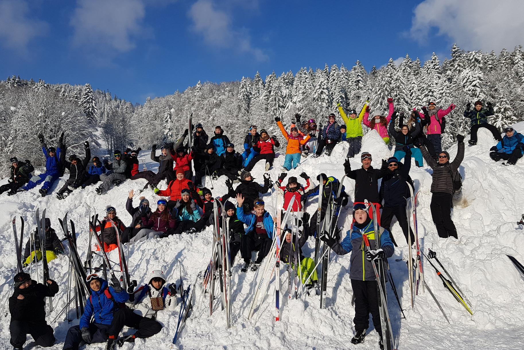 Beste Bedingungen beim Skifahren für Lindenau-Schülerinnen und Schüler