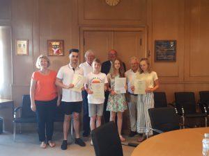 Schüler von Partnerschaftskomitee Großauheim geehrt