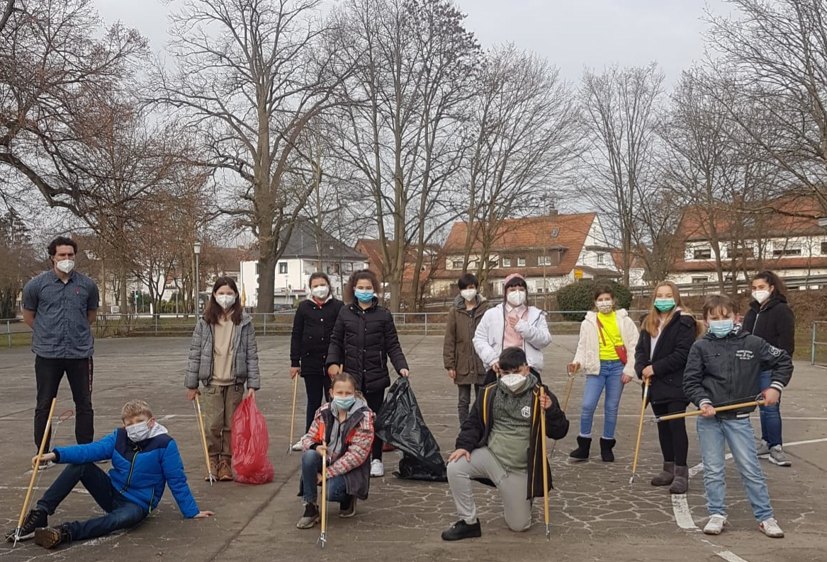 Sauberkeitspaten der Lindenauschule wieder in Aktion